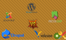 WordPress vs Joomla vs Drupal vs Volusion vs Prestashop